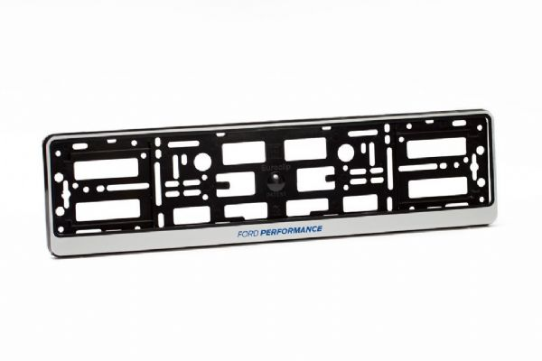 Ford Performance Number Plate Holder Surround Mounting | Silver